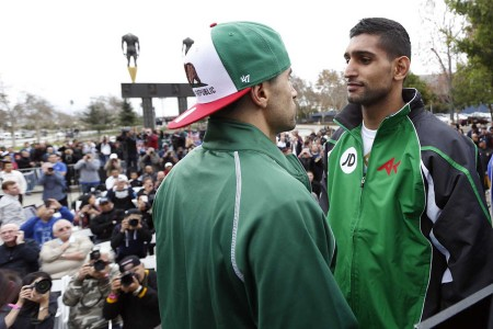 Carlos Molina and Amir Khan