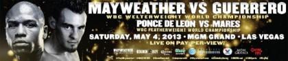 Santa Cruz vs. Munoz & Love vs. Rosado on Mayweather Guerrero card on Showtime PPV on 5/4