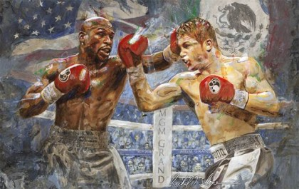 Award Winning Artist Commissioned to Create Artwork for Mayweather vs Canelo Superfight!