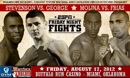 Adonis Stevenson fights Don George in IBF 168 lb eliminator on August 17th