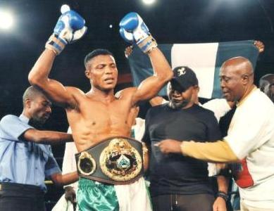 Ekpo being crowned new WBO AFrica Super Middleweight king