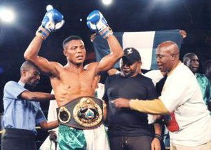 Ekpo being decorated as new WBO AFrica Super Middleweight king