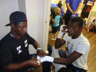 Ghana's Commey fights Hughes in UK Saturday night