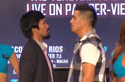 Brandon Rios towers over Pacquiao in face off in Macao